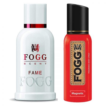 Fogg Magnatic & Fame Parfum for Men (Pack of 2)