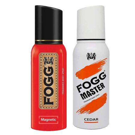 Fogg Magnetic & Cedar Fragrance Body Spray 120ml (Pack of 2)