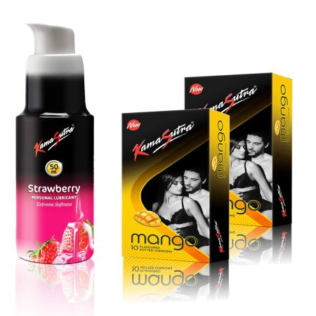 Kamasutra Strawberry Lubricant  & Mango Dotted Condom's