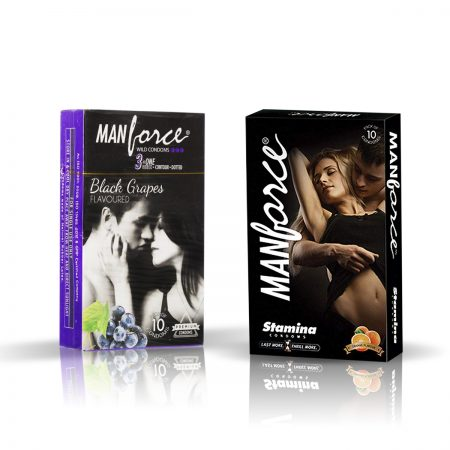 Manforce Black Grapes & Stamina Orange Condom (Pack of 2)