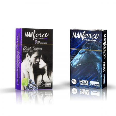 Manforce Black Grapes & XXL Condom (Pack of 2)