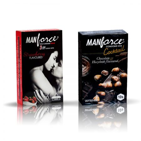 Manforce Cocktail & Strawberry Condom (Pack of 2)