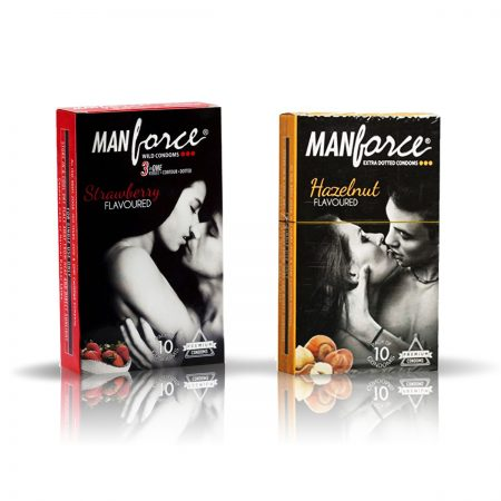 Manforce Hazelnut & Strawberry Condom (Pack of 2)