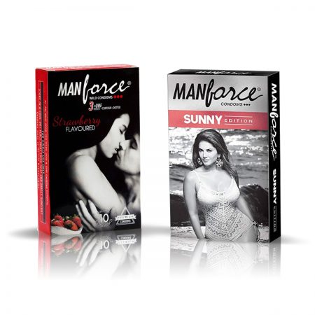 Manforce Sunny & Strawberry Condom (Pack of 2)
