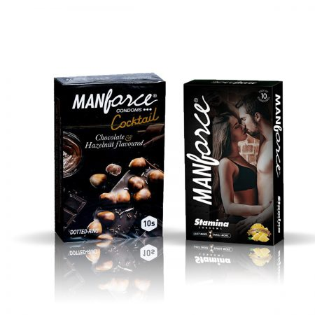 Manforce Cocktail & Stamina Pineapple Condom (Pack of 2)