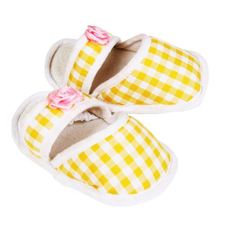 Morisons Baby Dreams Checks Baby Shoes (Yellow)