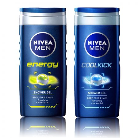 Nivea Men Energy & CoolKick Shower Gel 250ml (Pack of 2)