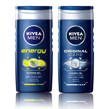 Nivea Men Energy & Original Care Gel 250ml (Pack of 2)