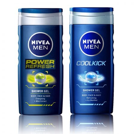 Nivea Men Power Refresh & CoolKick Shower Gel 250ml (Pack of 2)