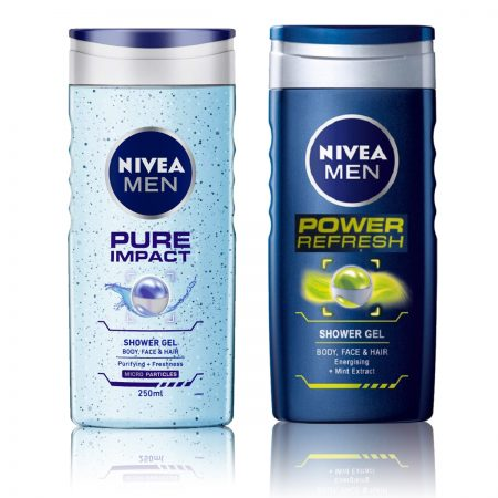 Nivea Men Pure Impact & Power Refresh Shower Gel 250ml (Pack of 2)