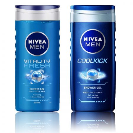 Nivea Men Vitality Fresh & CoolKick Shower Gel 250ml (Pack of 2)