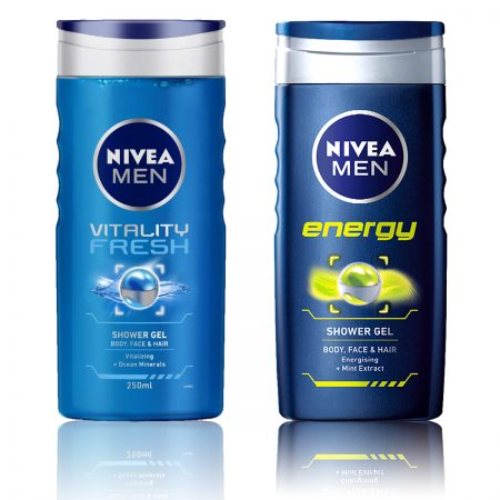 Nivea Men Vitality Fresh & Energy Shower Gel 250ml (Pack of 2)