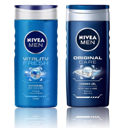 Nivea Men Vitality Fresh & Original Care Shower Gel 250ml (Pack of 2)
