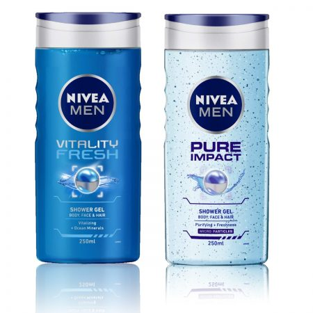 Nivea Men Vitality Fresh & Pure Impact Shower Gel 250ml (Pack of 2)