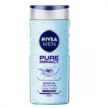 Nivea Men Pure Impact & Original Care Shower Gel 250ml (Pack of 2)