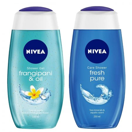 Nivea Fresh Pure & Frangipani Oil Shower Gel 250ml (Pack of 2)