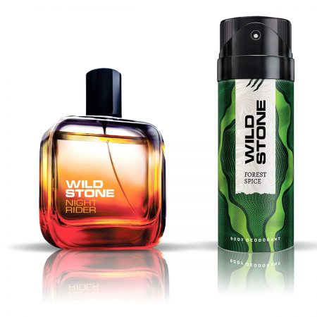 Wild Stone Forest Spice Deodorant & Night Rider Eau De Parfum for Men