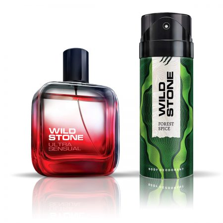 Wild Stone Forest Spice Deodorant & Ultra Sensual Eau De Parfum for Men