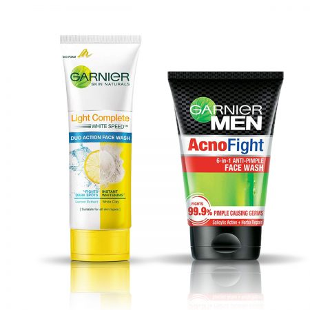 Garnier Men Light Complete Duo Action & Acno Fight Face Wash