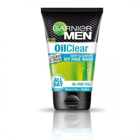 Garnier Men Power White Double Action & Oil Clear Icy Face Wash 200gm