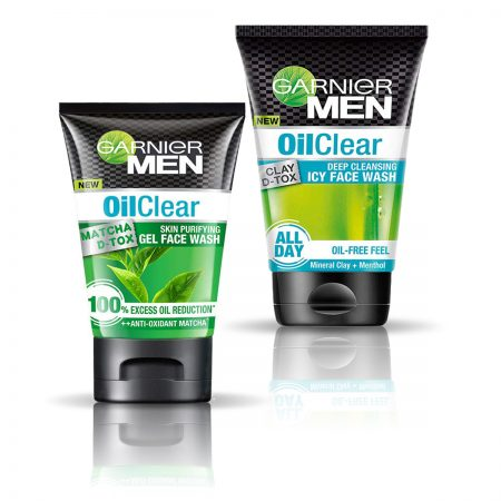 Garnier Men OilClear Icy & OilClear Gel Face Wash