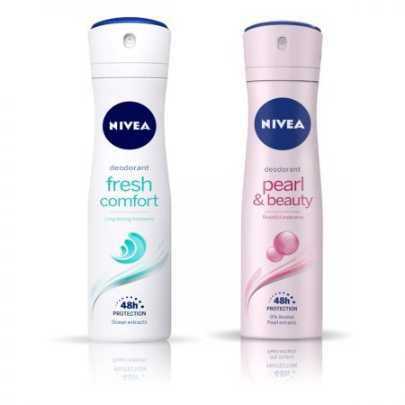 Nivea Pearl and Beauty & Fresh Comfort Deodorant for Women 150ml
