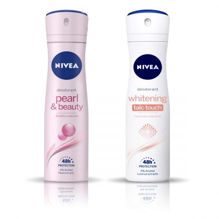 Nivea Pearl and Beauty & Talc Touch Deodorant for Women 150ml