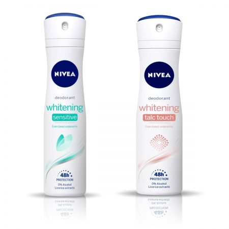 Nivea Talc Touch & Whitening Sensitive Deodorant for Women 150ml