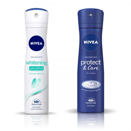 Nivea Protect and Care & Whitening Sensitive ...