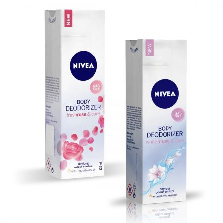 Nivea Whitemusk and Care & Freshrose and Care Body Deodorizer for Women 120ml