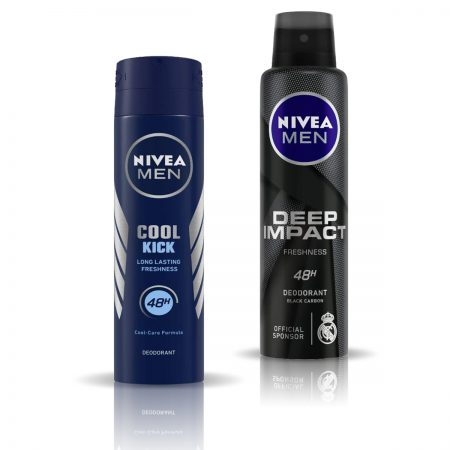 Nivea Man Cool Kick & Deep Impact Deodorant for Men 150ml