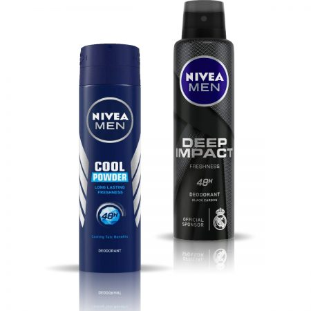Nivea Man Cool Powder & Deep Impact Deodorant for Men 150ml