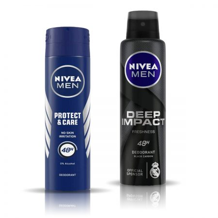 Nivea Men Protect and Care & Deep Impact Deodorant for Men 150ml