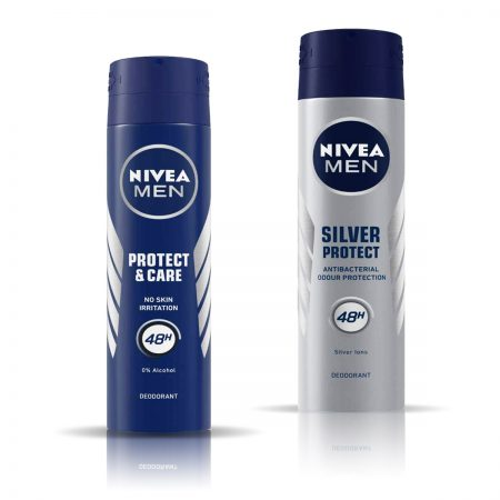 Nivea Men Protect and Care & Silver Protect Deodorant for Men 150ml