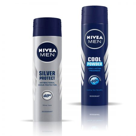 Nivea Men Cool Powder & Silver Protect Deodorant for Men 150ml