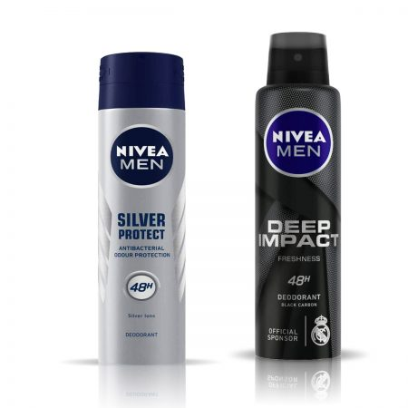 Nivea Men Deep Impact & Silver Protect Deodorant for Men 150ml