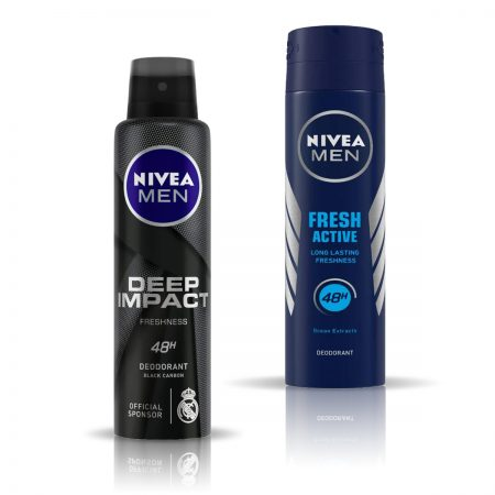 Nivea Men Deep Impact & Fresh Active Deodorant for Men 150ml