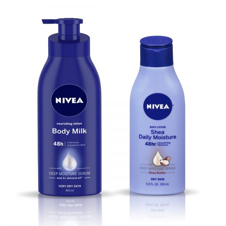 Nivea Nourishing Body Milk & Shea Daily Moisture Body Lotion 600ml