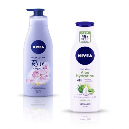 Nivea Rose and Argan Oil & Aloe Hydration Body Lotion 400ml