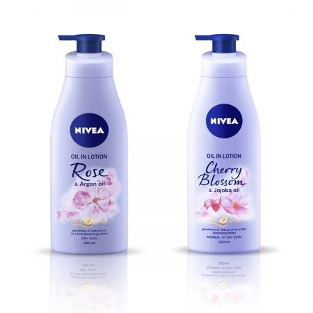 Nivea Rose and Argan Oil & Cherry Blossom Body Lotion 400ml