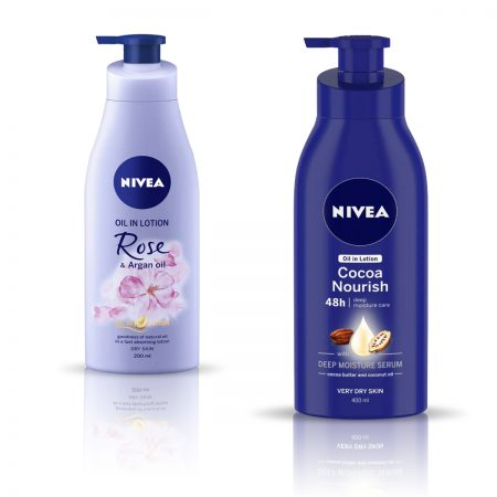 Nivea Rose and Argan Oil & Cocoa Nourish Body Lotion 600ml