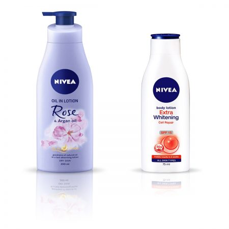 Nivea Rose and Argan Oil & Extra Whitening Body Lotion 275ml