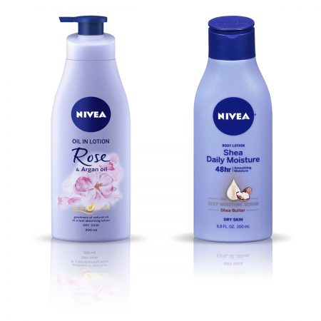 Nivea Rose and Argan Oil & Shea Daily Moisture Body Lotion 400ml