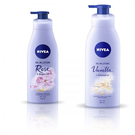 Nivea Rose and Argan Oil & Vanilla and Almond Oil Body Lotion 600ml