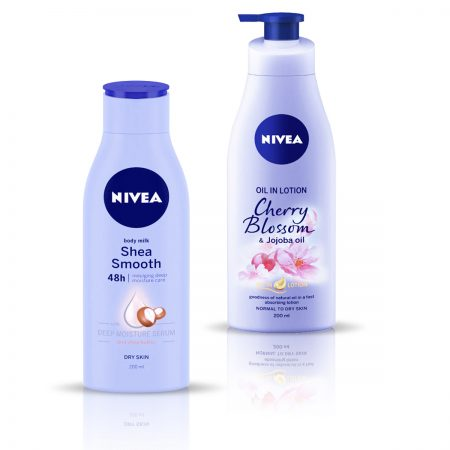 Nivea Body Milk Shea Smooth & Cherry Blossom Body Lotion 400ml