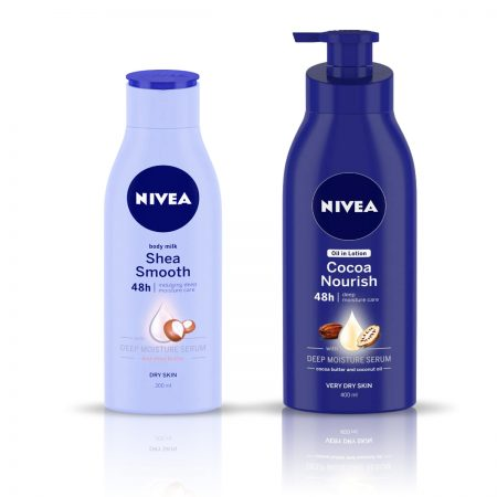 Nivea Body Milk Shea Smooth & Cocoa Nourish Body Lotion 600ml