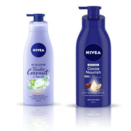 Nivea Tender Coconut and Tiare Oil &  Cocoa Nourish Body Lotion 600ml