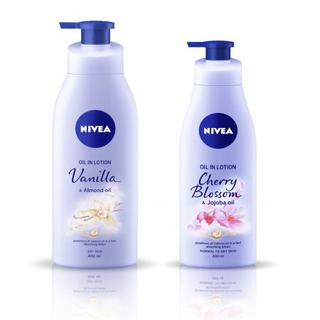 Nivea Vanilla and Almond Oil & Cherry Blossom Body Lotion 600ml
