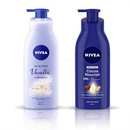 Nivea Vanilla and Almond Oil & Cocoa Nourish Body Lotion 800ml