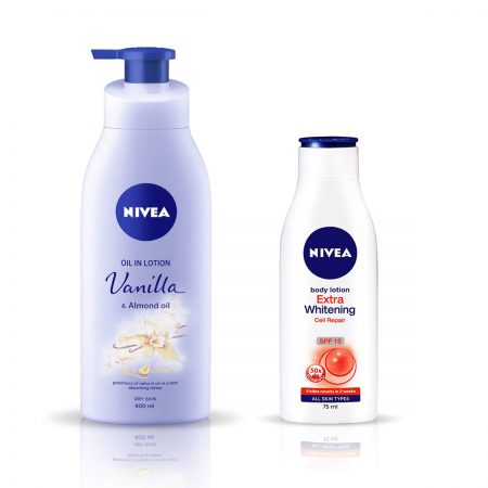 Nivea Vanilla and Almond Oil & Extra Whitening Body Lotion 475ml